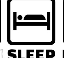 Eat Sleep Poker Sticker