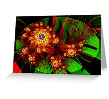 Fractal Dahlias Greeting Card