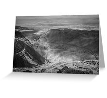 Bingham Canyon Open Pit Copper Mine Greeting Card