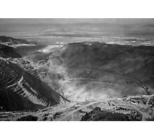 Bingham Canyon Open Pit Copper Mine Photographic Print