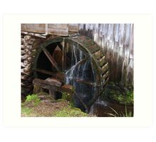 Mill Water Wheel Art Print