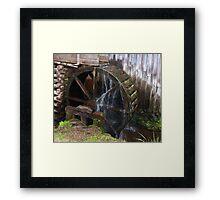 Mill Water Wheel Framed Print