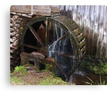 Mill Water Wheel Canvas Print