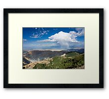 Squall over the Bingham Canyon Mine Framed Print