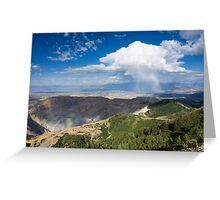 Squall over the Bingham Canyon Mine Greeting Card