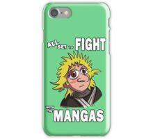 All Set to Fight with the Mangas iPhone Case/Skin