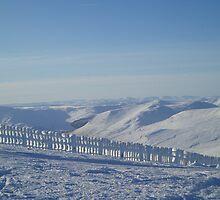 Snowy view of Glenshee by gayler