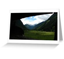 Unterfal Valley Greeting Card
