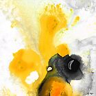 Yellow Orange Abstract Art - The Dreamer - By Sharon Cummings by Sharon Cummings