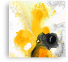 Yellow Orange Abstract Art - The Dreamer - By Sharon Cummings Canvas Print