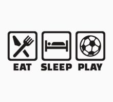 Eat sleep play Soccer One Piece - Long Sleeve