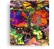 Happiness is a butterfly Canvas Print