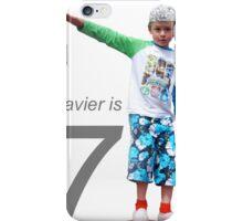 Xavier is 7 iPhone Case/Skin