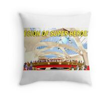 Legion of Super-Heroes Gathering Throw Pillow