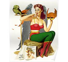 Hawkgirl Pin-Up 01 Poster