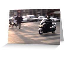 Moped in Paris Greeting Card
