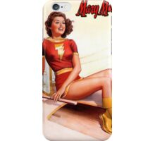 Mary Marvel Pin-Up 01 iPhone Case/Skin