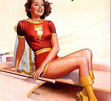 Mary Marvel Pin-Up 01 by TheWrightMan