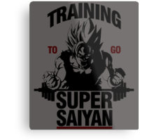 Training to go Super Saiyan Metal Print