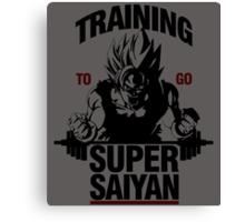 Training to go Super Saiyan Canvas Print