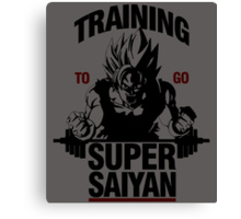 Training to go Super Saiyan Canvas Print