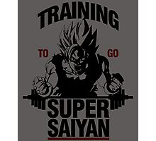 Training to go Super Saiyan Photographic Print