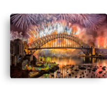 What a Blast - Sydney New Years Day 2015 # 3 Canvas Print