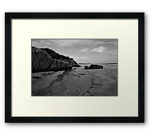 Anagry Beach, Co Donegal B/W Framed Print
