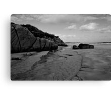 Anagry Beach, Co Donegal B/W Canvas Print