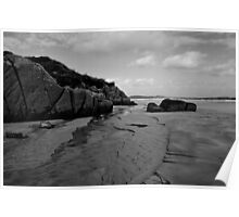 Anagry Beach, Co Donegal B/W Poster