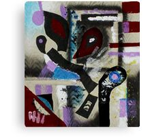 Blood, Bone, and Soul #1 (Mixed Material Assemblage)- Canvas Print