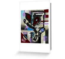 Blood, Bone, and Soul #1 (Mixed Material Assemblage)- Greeting Card