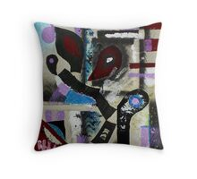 Blood, Bone, and Soul #1 (Mixed Material Assemblage)- Throw Pillow
