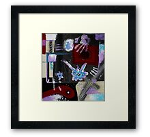 Blood, Bone, and Soul #2 (Mixed Material Assemblage)- Framed Print