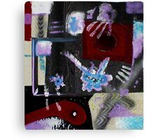 Blood, Bone, and Soul #2 (Mixed Material Assemblage)- Canvas Print