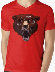 Da Bearsinator Mens V-Neck T-Shirt