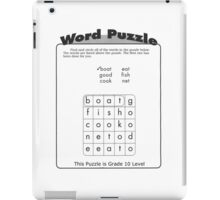 Word Puzzle iPad Case/Skin
