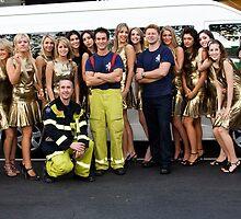 Carlton Fire Brigade meet -21 Finalist Miss Italia-Australia by Rosina  Lamberti