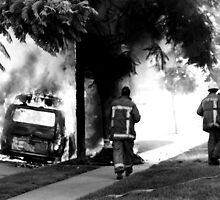Firefighters and Hot VW by Harlan Mayor