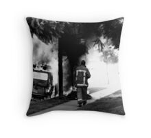 Firefighters and Hot VW Throw Pillow
