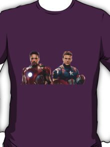 Iron Man and Captain America  T-Shirt