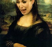 Kim Kardashian Mona Lisa Crying by Brenda Ortiz