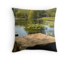 Green Refections 3. Throw Pillow