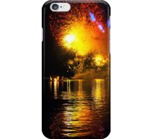 Fireworks and water. Triptych iPhone Case/Skin