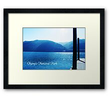 Olympic National Park landscape photography. Framed Print
