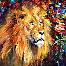 Lion Of Zion — Buy Now Link - www.etsy.com/listing/190613906 by Leonid  Afremov