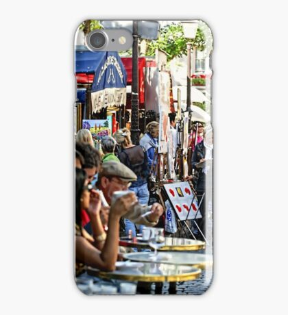 Montmartre café, Paris iPhone Case/Skin