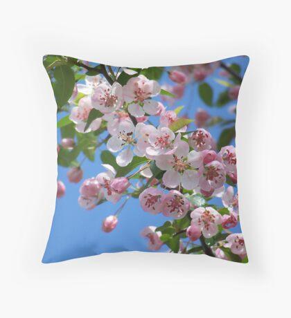 Duffs Crab Apple Tree Throw Pillow