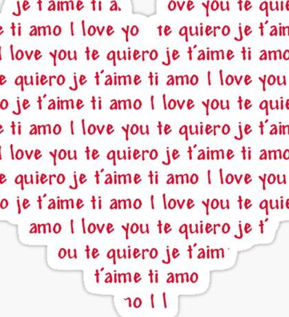 Love Speaks All Languages Sticker