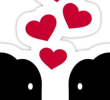 Elephants love red hearts Sticker
